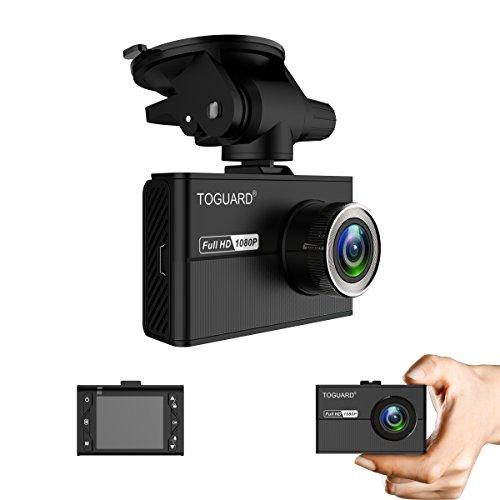 Telecamera per Auto Mini Dash cam TOGUARD con Super Condensatore, Registratore per Auto, Schermo LCD da 1.5pollici Full HD 1080P Telecamera da Cruscotto con Sensore SONY Exmor, Sensore G
