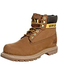 Caterpillar Colorado Beige Mens Leather Shoes Boots-10