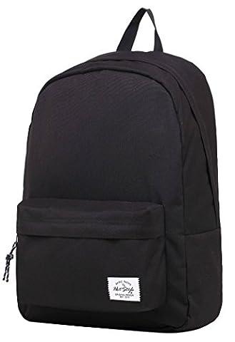 SIMPLAY Klassischer Schulrucksack Büchertasche | 44x30x12.5cm | Verschiedene Farben | Schwarz