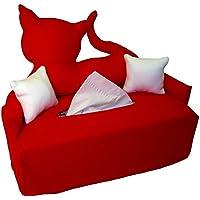Rote Katze - Bezug für Taschentuchschachtel - Handgefertigt
