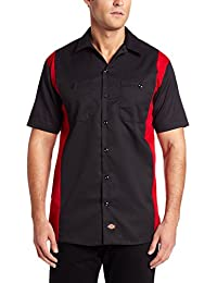 Dickies Herren, Slim Fit, Freizeithemd, Two Tone Work,
