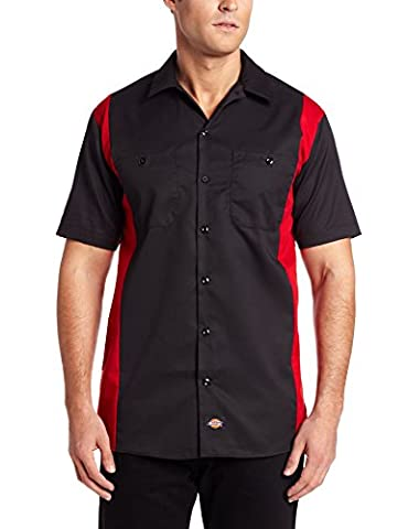 Dickies Two Tone, Blouse de travail Homme, Multicolore (Black / English Red), XX-Large (Taille fabricant: XXLge)