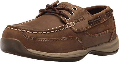 Rockport Shoes Women Womens' Steel Toe Tie Boat Oxford Shoes RK676 Steel Toe Work Oxford