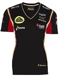 Fórmula uno 1 Lotus F1 Team Burn Raikkonen negro 2013 señoras camiseta Negro negro ...