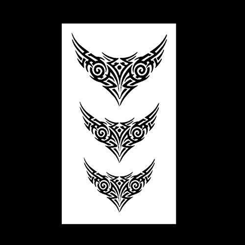 Lihaohao corea harajuku adesivi piccolo tatuaggio impermeabile fresco lettera stelle adesivi tatuaggio rosa 10.5x6cm 6 fogli