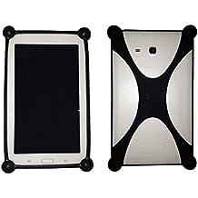 """Funda Universal de Silicona Anticaída para Tablet de 7"""" Color Negro"""