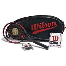 Wilson Unisex Pro Staff 95Package 100YEAR Raqueta de competición, unisex, Turnierschläger Pro Staff 95 Package 100 Year, negro