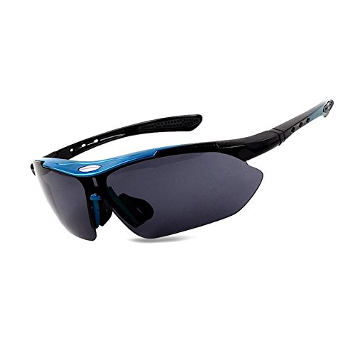 HONEY Reiten Polarisierte Brille Outdoor Sports - Männer und Frauen Läufer Mountainbike Anti-Wind ( Farbe : Blue Black )