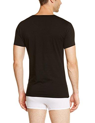 Tommy Hilfiger Herren Unterhemd Stretch V neck premium ess, 3er Pack Schwarz (BLACK 990)