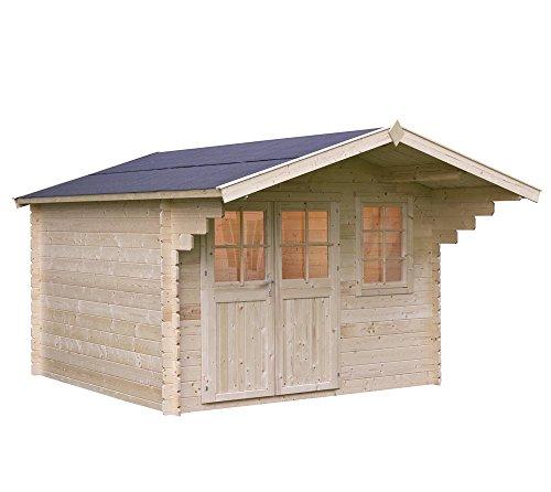 Outdoor Life Gartenhaus Gerätehaus Quinten 280 // 340x379 cm (BxT), 34mm // Holzgerätehaus, Geräteschuppen & Geräteschrank