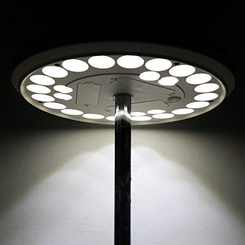 BELLESTYLE Solar fahnenmast LED Flagpole Nachtlicht , 26 LEDs solarbetriebene Wasserdichte LED beleuchtet allerhöchsten 15 ft bis 25 ft Flagpole Auto On und Off für Nachtbeleuchtung