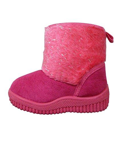 de Toddler Boots - Fuchsia - Fuchsia - UK4 - EUR20 (Sparkly Schuhe Für Kinder)