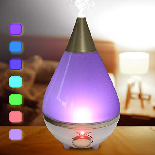 Luftbefeuchter Ultraschall Schlafzimmer 2,3L Baby Leise Humidifier Kinderzimmer Raumluftbefeuchter Automatische Abschaltung Aroma Diffuser LED Duftlampe - Feuchtigkeitsspendende Parfüm