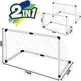 Inside Out Toys Ltd - Set Porta da Calcio per Bambini, per Giardino o Interni, 2 in 1 con reti e Pallone