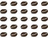 Da 25 adesivo da parete caffè fagioli per 2,91 x 1,92 cm marrone