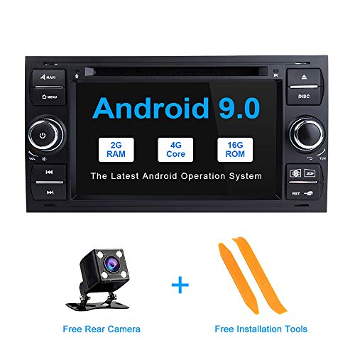 ZLTOOPAI Android 9.0 für Ford Focus Mondeo S-Max C-Max Autoradio Stereo GPS Navigation Media Player (SCHWARZ) Fusion Media Player