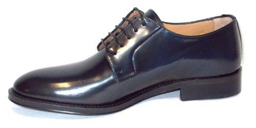 Brawn's chaussure Homme in Peau spazzolata fondo Peau 046 Cordovan Blu Blu