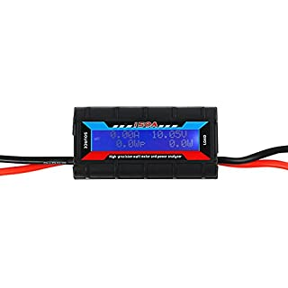 VIPMOON 150 Amps Power Analyzer, G.T. Power RC Watt Meter with LCD Screen, for RC, Battery, Solar, Wind Power