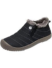 ALIKEEY Las Mujeres Más El Terciopelo A Prueba De Agua Zapatos De Algodón Botas De Nieve Botines Zapatos De Felpa Botas De Futbol Hombres Zapatos Y Complemento