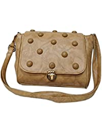 Women's Leather Sling Bag (Brown)