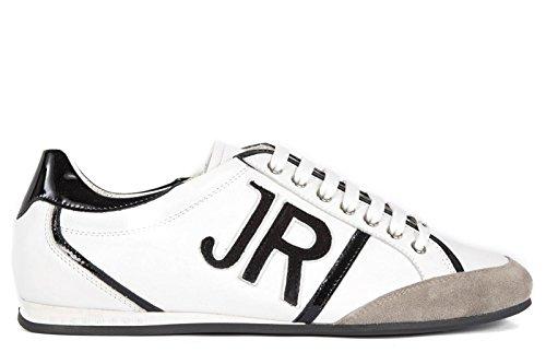 John Richmond scarpe sneakers uomo in pelle nuove jeffrey bianco EU 43 0 8433