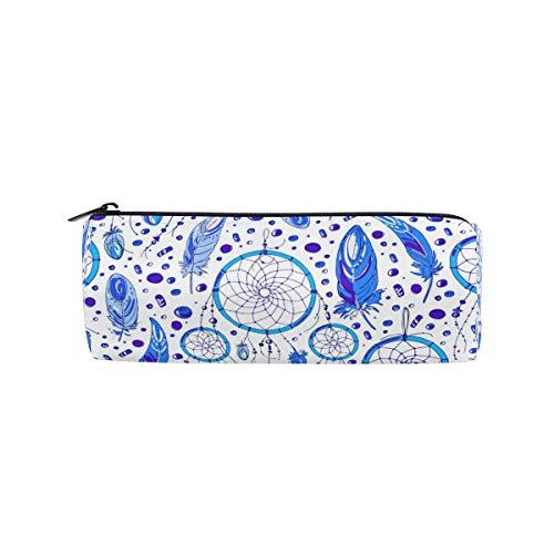 Ahomy - Estuche para lápices, diseño de plumas de atrapasueños, color azul