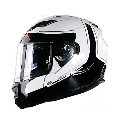Berrd Casco moto Visiera parasole incorporata Doppia lente Casco integrale Senza airbag Casco moto Dot Dot Lunar XXL