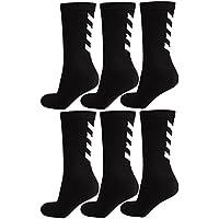 Hummel 6 Paar Damen und Herren Socken Fundamental 6er Pack Sock schwarz / weiß Logo viele Größen