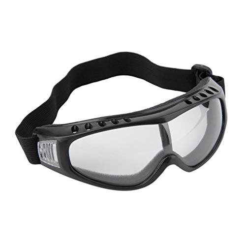 Wenwenzui Snowboard Dustproof Sunglasses Ski Goggles Lens Frame Glasses Paintball Black and transparent