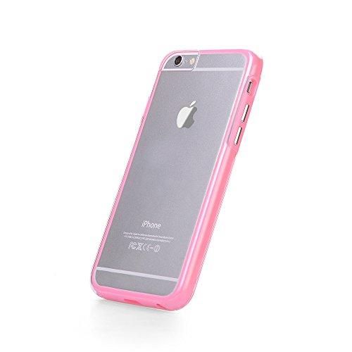iPhone 7 Hülle, JAMMYLIZARD Transparentes Rundumschutz Cover aus Silikon mit integriertem Displayschutz für iPhone 7, SCHWARZ HELLROSA