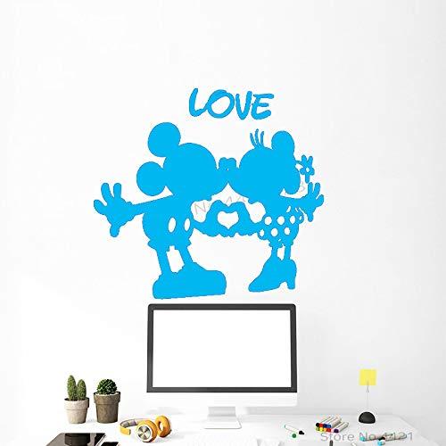 xingbuxin Adesivo murale Cartoon Mouse Poster Adesivo murale Baby Nursery Camera da Letto Art Interior Decor Design Decalcomanie 4 43x42cm