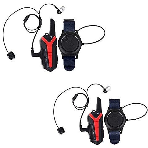 Boblov X3 Plus 1.5-3KM BT Bicycle Bike Headset Headphone Group Intercom Interphone Helmet Walkie Talkie 2 Way Radio UHF 400-470MHZ Wireless PTT Remote Control (2