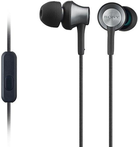 Sony MDR-EX650APT In-Ear-Kopfhörer, Messinggehäuse, Headset, Mikrofon, Fernbedienung, schwarz Handy Messing