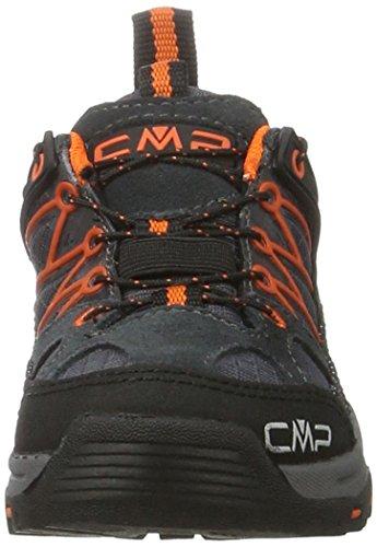 C.P.M. Rigel, Chaussures de Randonnée Basses Mixte Enfant Noir (Asphalt)