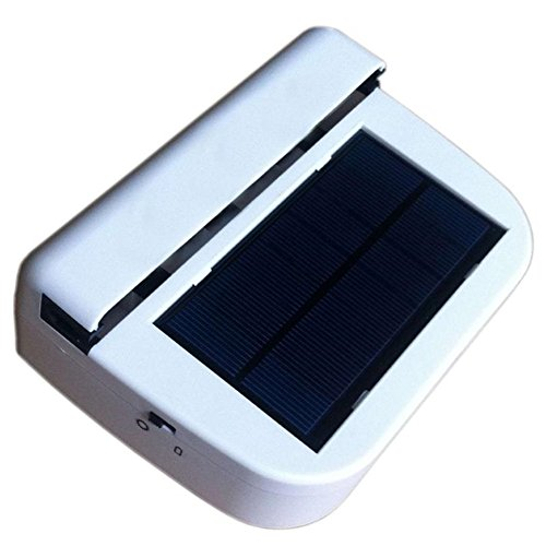 Ventilador con Energía Solar Ventilador De La Ventana De La Casa del Coche Ventilador De Aire para Sistema De Ventilación Ventilador De Energía Solar Blanco