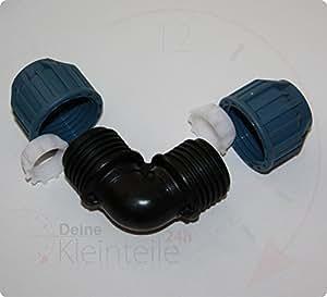 32mm 32mm pe rohr kunststoff pp klemmverbinder klemmfitting verschraubung bergang ag pex. Black Bedroom Furniture Sets. Home Design Ideas