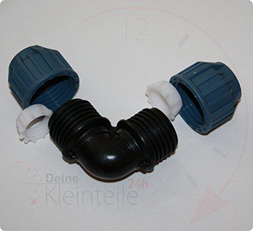 PE tuyau coudé 90 ° plastique PP connecteur de serrage klemmfitting Raccord union Transition AG PEX, 16mm - 16mm