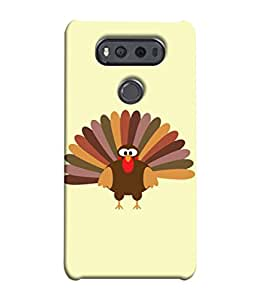 LG V20 Dual H990DS, LG V20 Dual H990N Back Cover Thanks Giving Turkey Cartoon Design From FUSON