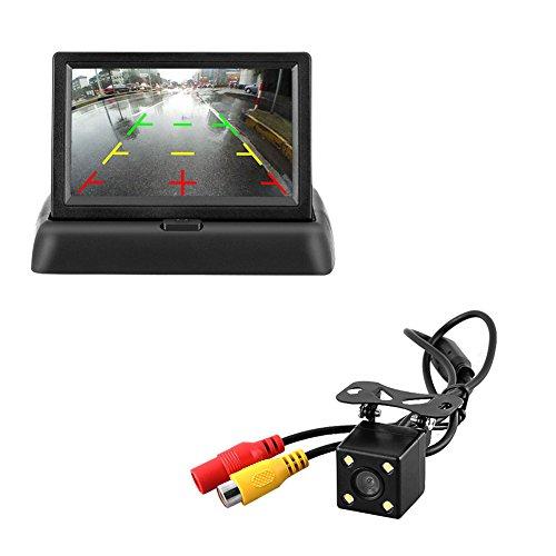 Majome HD de Voiture Caméra de recul Filaire 170Degrés 10,9cm LCD Écran Moniteur Vue Arrière Vision de Nuit