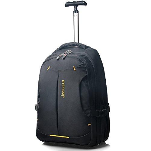 50,8cm abnehmbarer Handschlaufe Trolley Gepäck, Rädern Rucksack, Rolling Handgepäck Travel Duffel Tasche für Herren und Mädchen schwarz (Tasche Duffle Rolling)