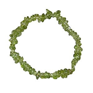 Peridot / Olivin Splitter Armband schöne klare grüne Farbe.(4033)
