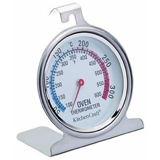 Kitchencraft Termómetro para horno 50ºC a 300ºC, Acero, Plateado, 4.3×6.6×8 cm, una unidad