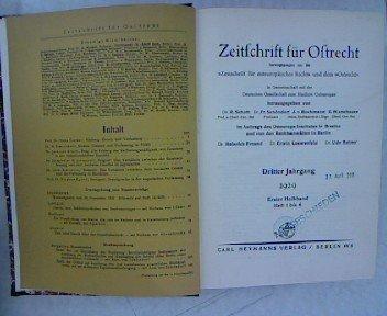 ltnis zwischen dem normalen Gesetz und der Verfassung in Rumänien, in ZEITSCHRIFT FÜR OSTRECHT Heft 1-6, Jahrgang 3 (1929) (Dr. Jean Und Freunde)