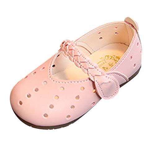 (Beikoard Kinder Infant Kinder Mädchen Einfarbig gewebte Loch Hohl Schuhe Prinzessin Schuhe Einzelne Schuhe Hochzeit Party Schuhe)