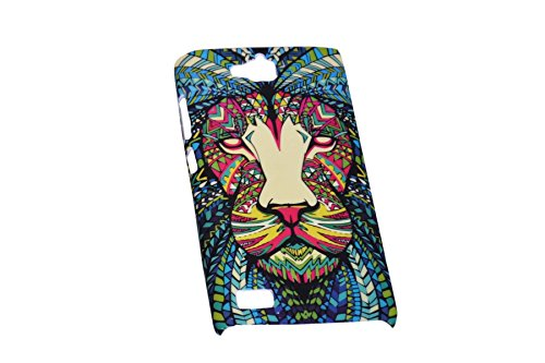 Aztec Animal Lion Designer Print Snap-On Hard Slim Back Flexible Bumper Case Cover For Huawei Honor 3C  available at amazon for Rs.149