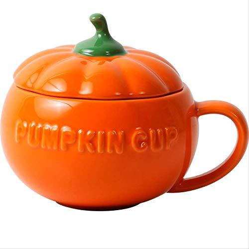 Q&C 3D Kreative Tasse Kaffeetasse Frühstück Milch Keramik Tassen Mit Deckel Wasserflasche Halloween Day