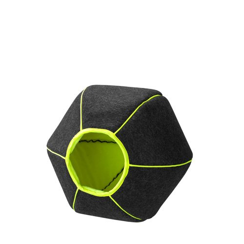 D&D 673-430477 Tierbett Home-Collection Pet-Cave, Lime-Anthracite