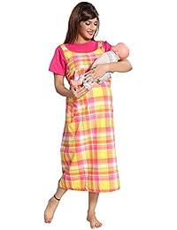 9796153c73 Soulemo Womens Checkered Feeding Nursing Maternity Dress for Pregnancy. 732