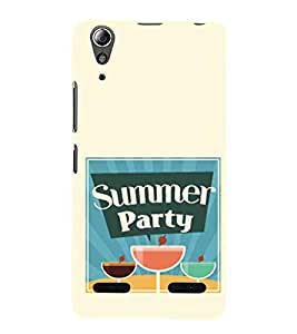Summer Party, Blue, Glass, Lovely Pattern, Printed Designer Back Case Cover for Lenovo A6000 Plus :: Lenovo A6000+ :: Lenovo A6000