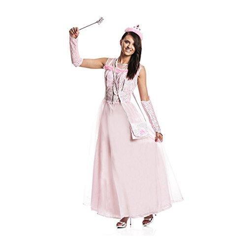 Kostümplanet® Prinzessin-Kostüm Damen + Tasche rosa Prinzessinen-Kostüm Erwachsene Größe 36/38 (Erwachsene Rosa Prinzessin Kostüme)